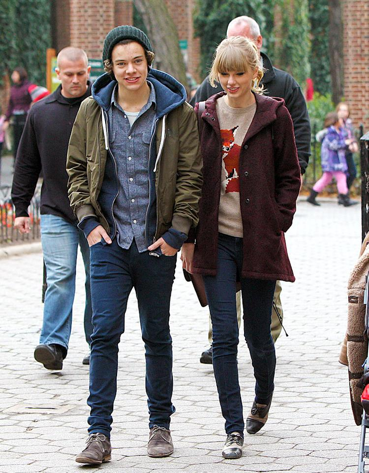 Taylor Swift and Harry Styles seen leaving the Central Park Zoo in NYC. 