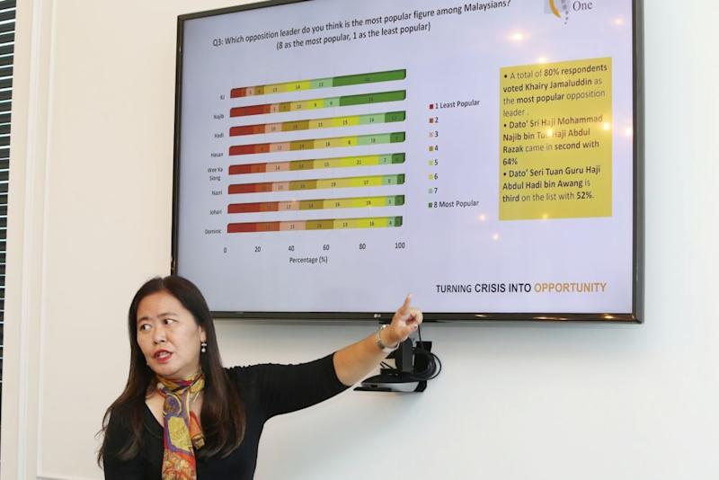 Citrine One managing partner and crisis communications lead counsel Ivlynn Yap speaks during a media briefing in Kuala Lumpur October 16, 2019. — Picture by Choo Choy May