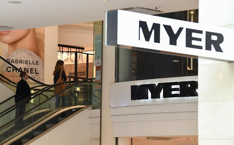 Myer posts 800% 'deterioration' in profits. Source: Getty