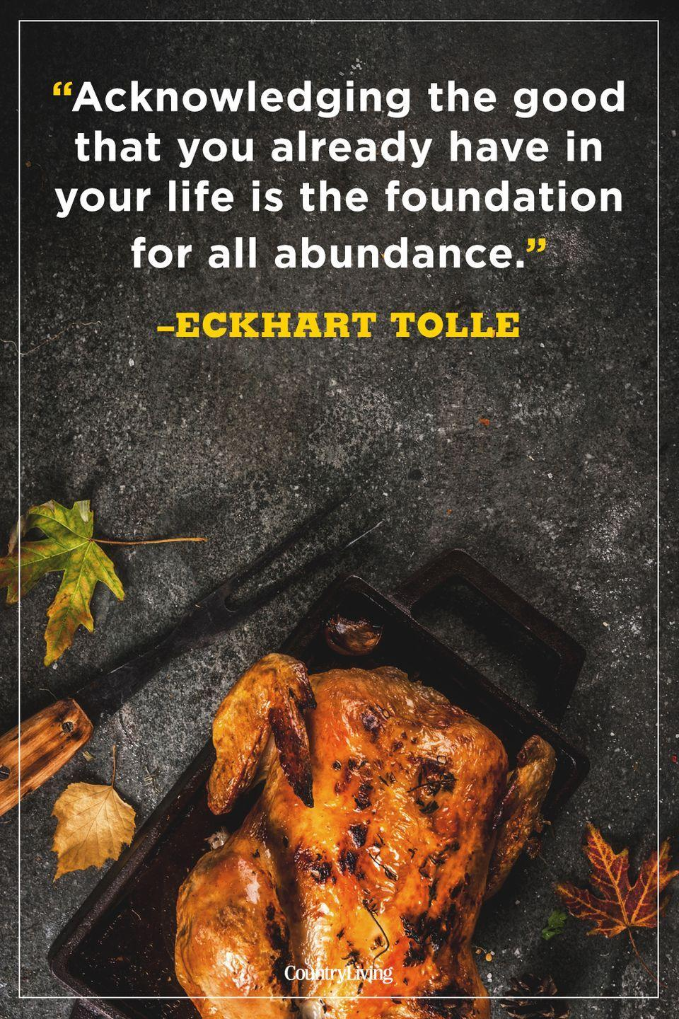 """<p>""""Acknowledging the good that you already have in your life is the foundation for all abundance."""" </p>"""
