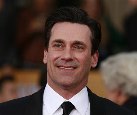 "Actor Jon Hamm of the TV drama ""Mad Men"" arrives at the 19th annual Screen Actors Guild Awards in Los Angeles"
