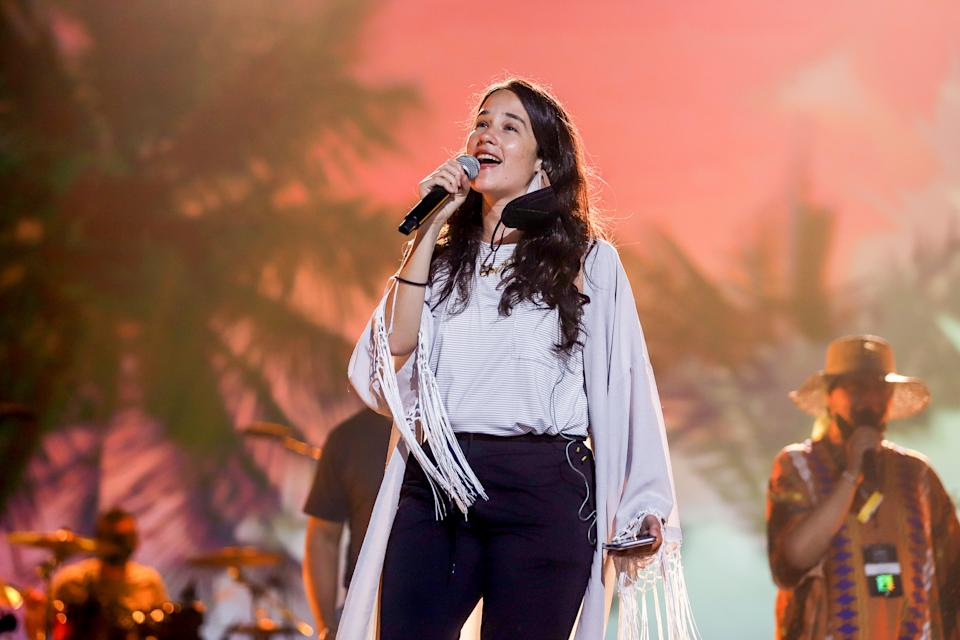 HOLLYWOOD, FLORIDA - MAY 04: Ximena Sariñana rehearses onstage during the Latin GRAMMY Celebra Ellas y Su Musica on May 04, 2021 in Hollywood, Florida. (Photo by John Parra/Getty Images for The Latin Recording Academy)
