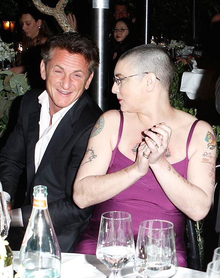 Others, like controversial '90s one hit-wonder Sinead O'Connor, not so much! The singer, who performed at the fete, showed off her heavily-tattooed arms as she chatted with actor and activist Sean Penn. Think they're plotting a protest? (10/27/2011)
