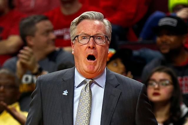 Fran McCaffery allegedly berated a ref following a 20-point loss. (AP Photo/Adam Hunger)