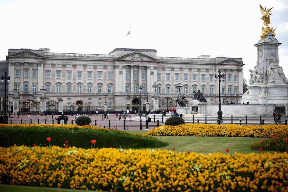 The Union Jack was seen flying at half mast outside Buckingham Palace on FridayREUTERS