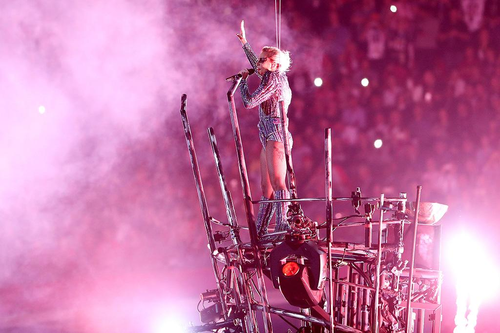 <p>Lady Gaga performs during the Pepsi Zero Sugar Super Bowl 51 Halftime Show at NRG Stadium on February 5, 2017 in Houston, Texas. <br />(Photo by Getty Images) </p>