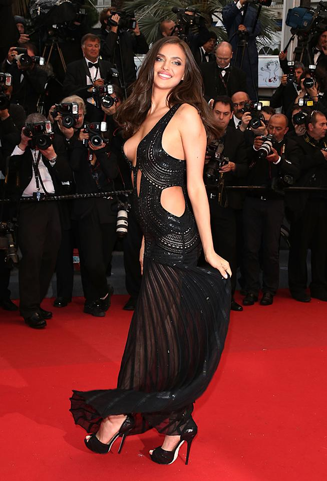 CANNES, FRANCE - MAY 22:  Irina Shayk attends the 'All Is Lost' Premiere during the 66th Annual Cannes Film Festival at Palais des Festivals on May 22, 2013 in Cannes, France.  (Photo by Andreas Rentz/Getty Images)