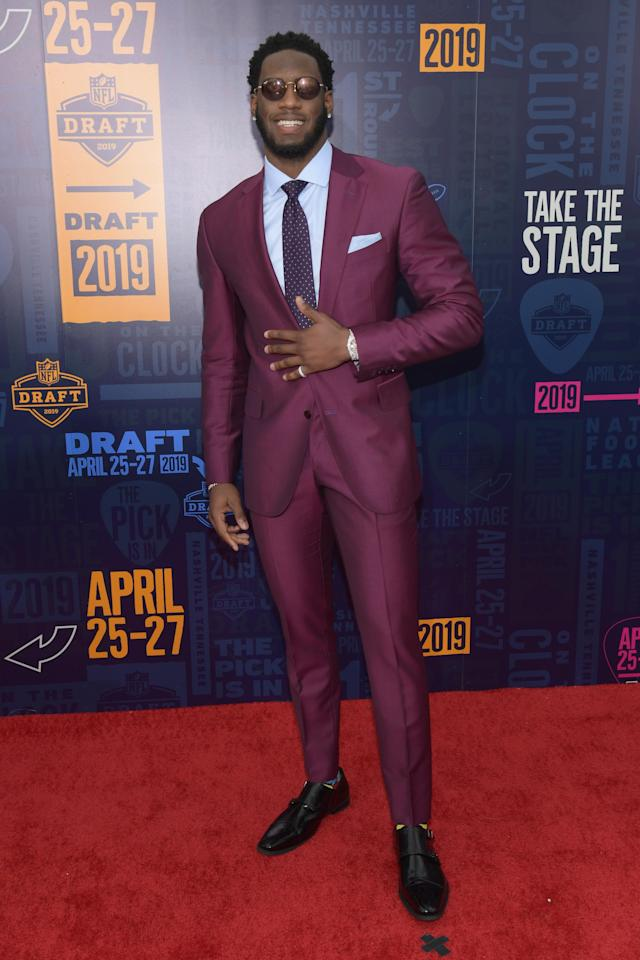 Footbal player Brian Burns attends the 2019 NFL Draft on April 25, 2019 in Nashville, Tennessee. (Photo by Jason Kempin/Getty Images)