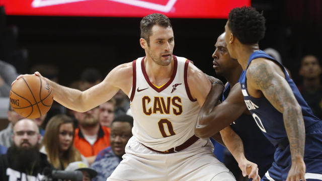 """<a class=""""link rapid-noclick-resp"""" href=""""/nba/players/4391/"""" data-ylk=""""slk:Kevin Love"""">Kevin Love</a> can't be traded until Jan. 24, 2019, because he signed an extension in July. (AP)"""