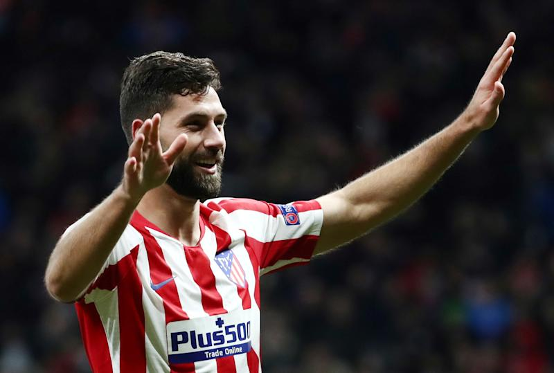 Soccer Football - Champions League - Group D - Atletico Madrid v Lokomotiv Moscow - Wanda Metropolitano, Madrid, Spain - December 11, 2019 Atletico Madrid's Felipe celebrates scoring their second goal REUTERS/Sergio Perez