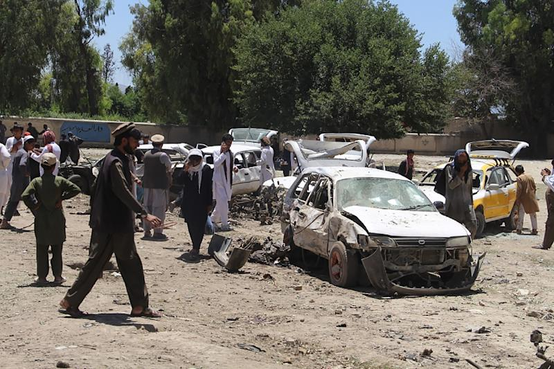 A Taliban car bomber killed 13 people in Afghanistan's Khost city on May 27, in the first major attack at the start of the holy month of Ramadan (AFP Photo/Farid Zahir)