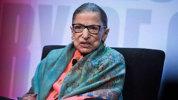 PHOTO: Supreme Court Justice Ruth Bader Ginsburg participates in a discussion during the Library of Congress National Book Festival at the Walter E. Washington Convention Center, Aug. 31, 2019. (Tom Williams/AP)