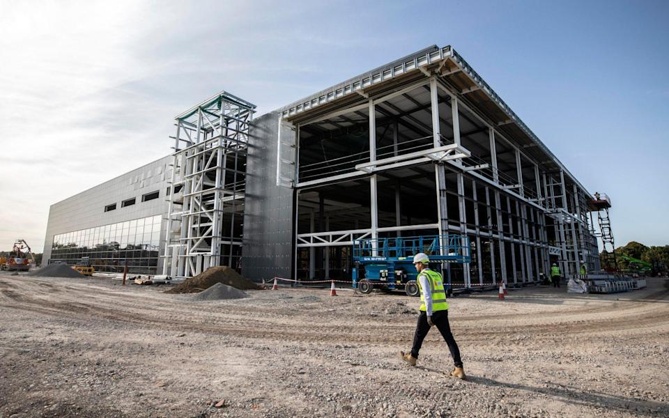 Construction site of the new Vaccines Manufacturing and Innovation Centre - Getty