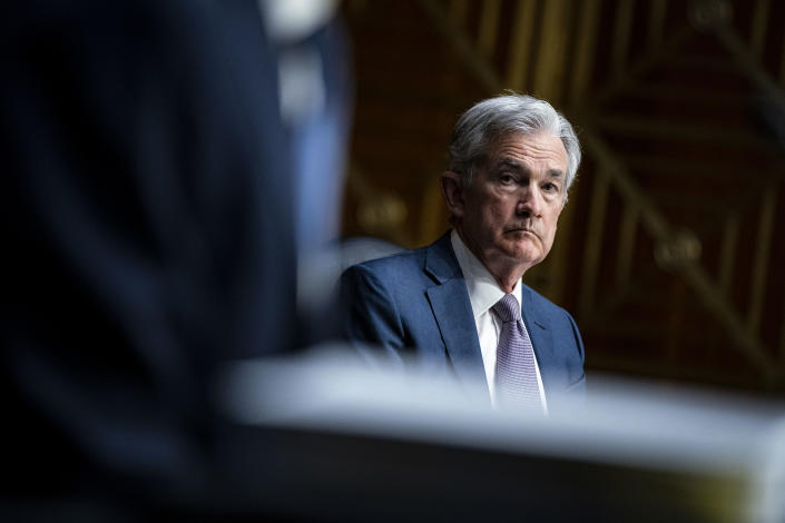 Chairman of the Federal Reserve Jerome Powell appears before a Senate Banking Committee hearing on Capitol Hill, on December 1, 2020 in Washington,DC. (Photo by Al Drago / POOL / AFP) (Photo by AL DRAGO/POOL/AFP via Getty Images)