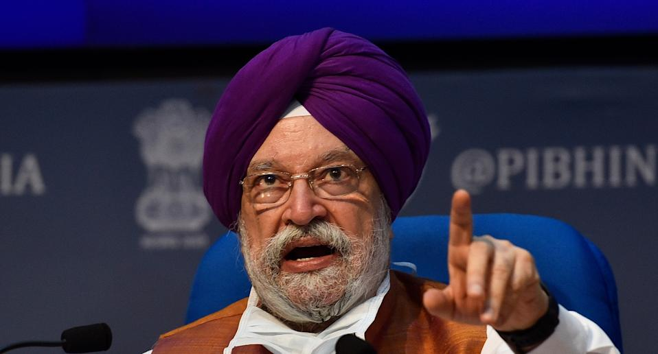 Union Housing and Urban Affairs Minister Hardeep Singh Puri. Photo: Getty Images