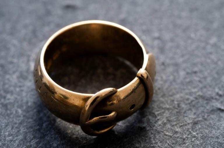 The fate of the friendship ring given to Oscar Wilde remained a mystery for years -- some feared it had been melted down (AFP Photo/JOHN THYS)