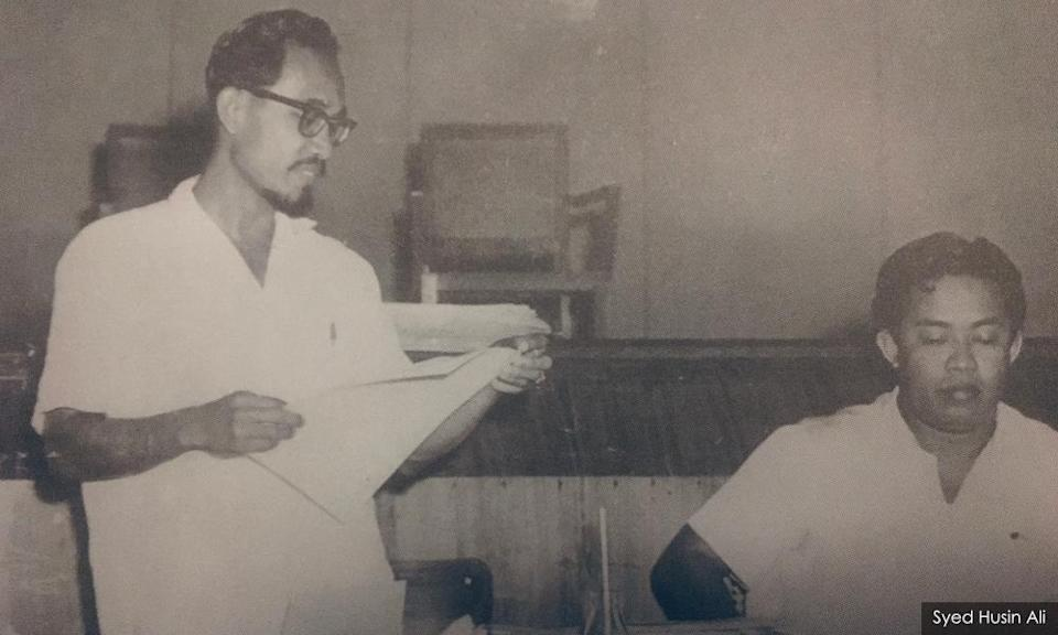 Syed Husin (left) formed the National Writers Association with Usman Awang in the early 1960s
