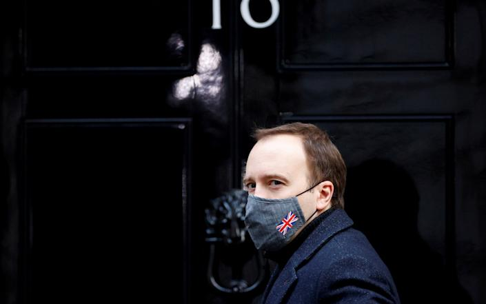 Health Secretary Hancock at Downing Street in London - Reuters