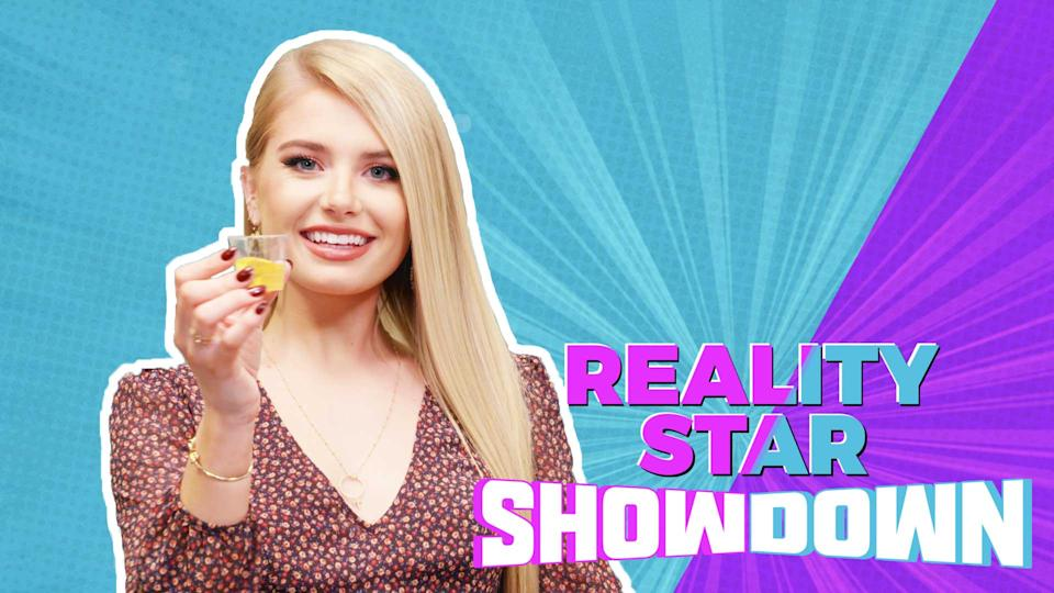 Watch 'Bachelor' alum Demi Burnett tie a cherry stem with her tongue in under 10 seconds