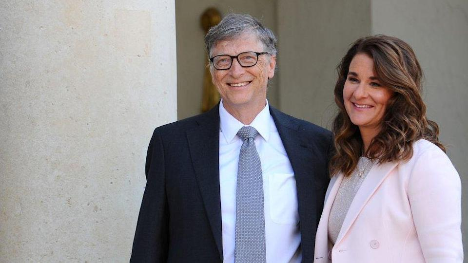 Image shows Bill and Melinda Gates in 2017