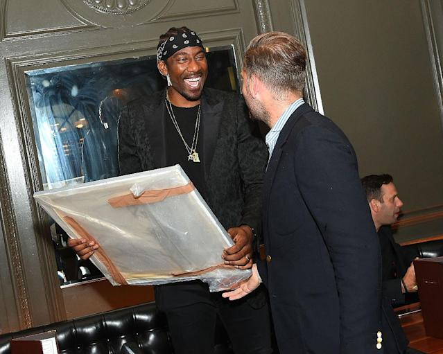 """<a class=""""link rapid-noclick-resp"""" href=""""/nba/players/3607/"""" data-ylk=""""slk:Amar'e Stoudemire"""">Amar'e Stoudemire</a> attends Haute Time Celebrates Amar'e Stoudemire presented By Avion Reserva 44 at American Cut on July 31, 2016 in New York City. (Ben Gabbe/Getty Images for Haute Living)"""
