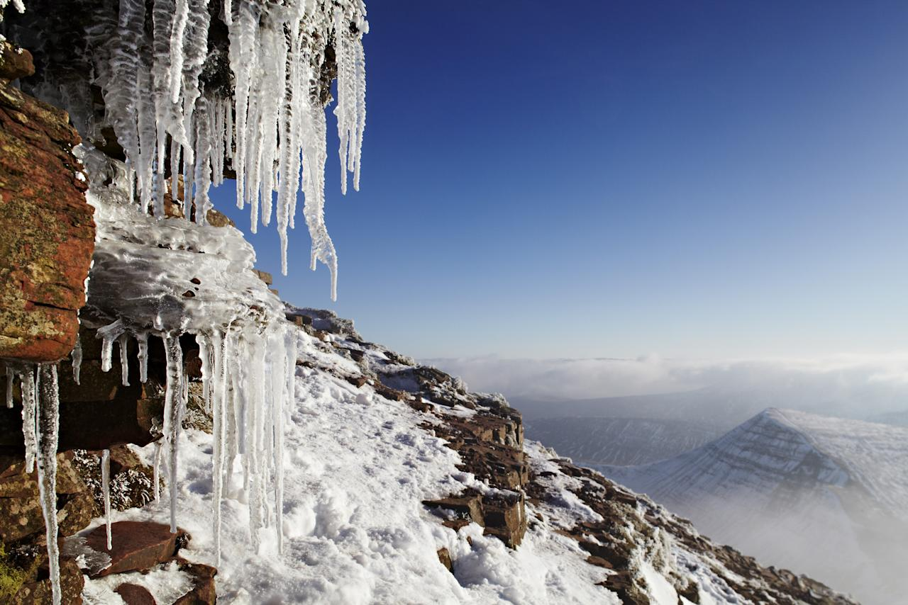 'Icicles on Pen y Fan' Brecon Beacons, Wales: Dan Santillo used a tilt shift lens to get close to the icicles and make sure they were in focus. His image was commended in the 'Your View' category. (Dan Santillo, Landscape Photographer of the Year)