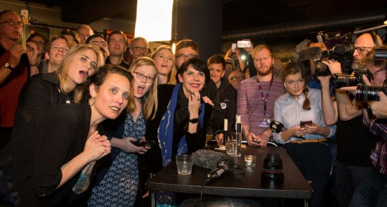 The Iceland Pirate Party (pictured) and their leader, Birgitta Jonsdottir (C) were invited by President Gudni Johannesson to form a government, following the failed bids from the right and left-wing parties