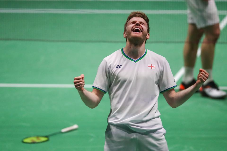 Marcus Ellis was elated as he kept his dream of becoming the first home player to win at the Yonex All England Championships for 15 years alive