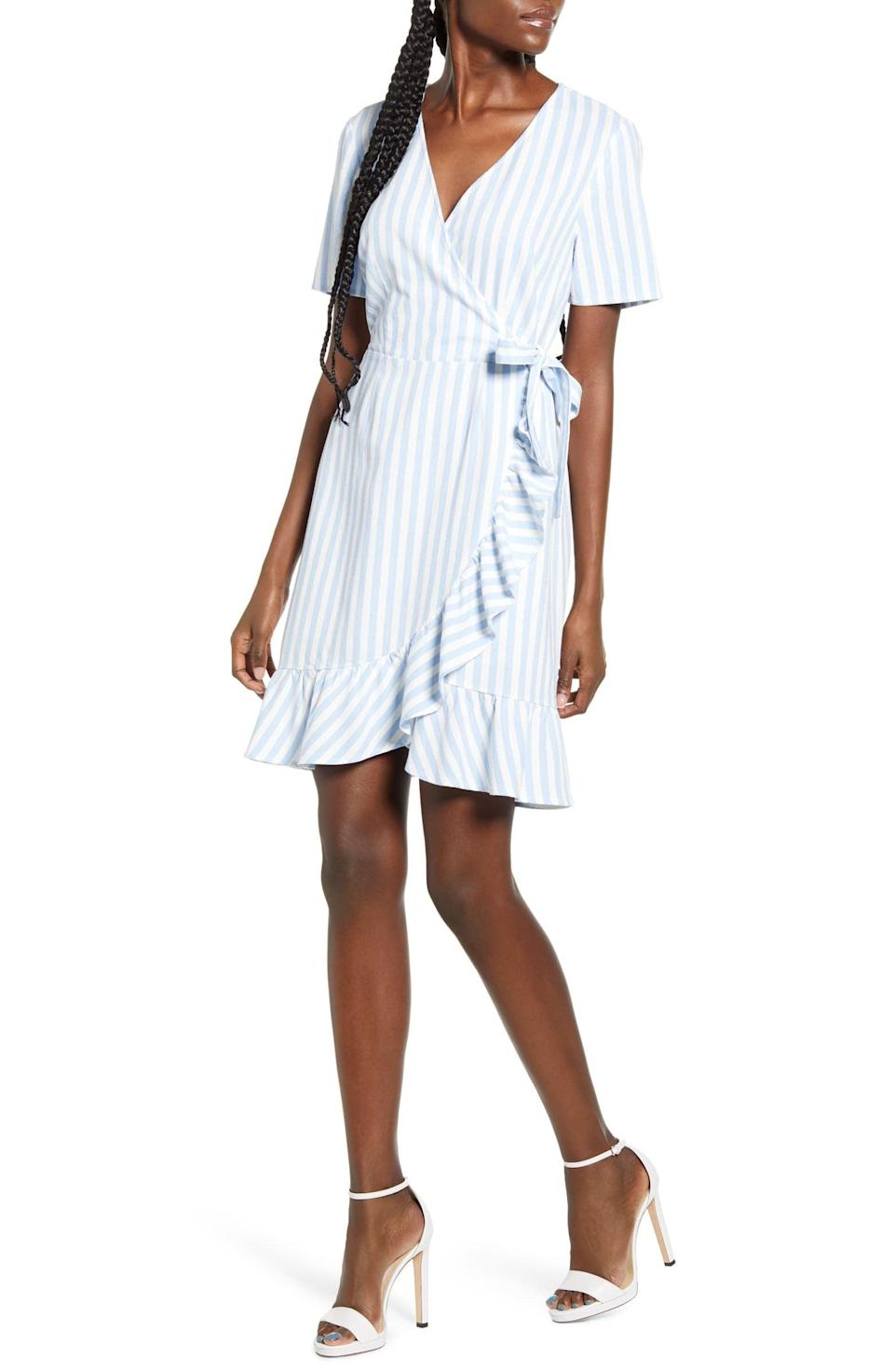 "<p>This <a href=""https://www.popsugar.com/buy/Vero-Moda-Helenmilo-Stripe-Wrap-Front-Linen-Blend-Dress-588373?p_name=Vero%20Moda%20Helenmilo%20Stripe%20Wrap%20Front%20Linen%20Blend%20Dress&retailer=nordstrom.com&pid=588373&price=65&evar1=fab%3Aus&evar9=46355415&evar98=https%3A%2F%2Fwww.popsugar.com%2Ffashion%2Fphoto-gallery%2F46355415%2Fimage%2F47609373%2FVero-Moda-Helenmilo-Stripe-Wrap-Front-Linen-Blend-Dress&list1=shopping%2Cdresses%2Csummer%2Cproducts%20under%20%24100%2Csummer%20fashion&prop13=api&pdata=1"" class=""link rapid-noclick-resp"" rel=""nofollow noopener"" target=""_blank"" data-ylk=""slk:Vero Moda Helenmilo Stripe Wrap Front Linen Blend Dress"">Vero Moda Helenmilo Stripe Wrap Front Linen Blend Dress</a> ($65) feels so seasonally appropriate.</p>"