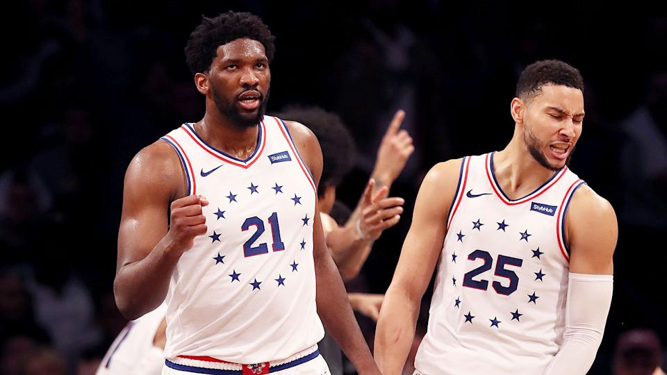 Seen here, Joel Embiid and Ben Simmons are the biggest two superstars at the 76ers.