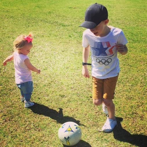 The decision to give Ollie a little sister wasn't easy for Carrie. Photo: Instagram/bickmorecarrie