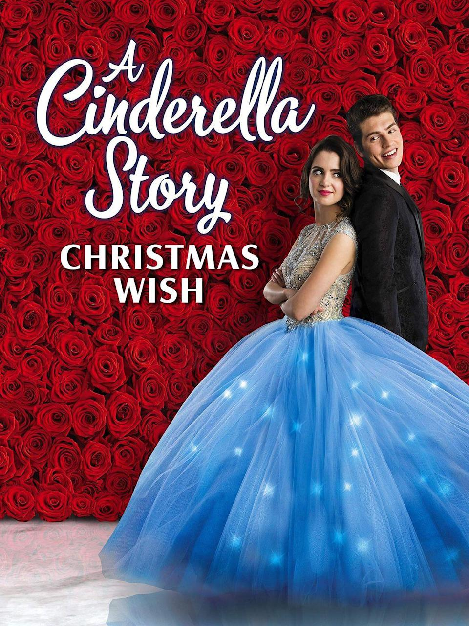 """<p>This fifth installment of <em>A Cinderella Story</em> film series follows an aspiring performer (with a wicked stepmother and stepsisters, of course) who takes a job as a singing elf at Santaland, though the job has a benefit: the guy playing Santa Claus is really cute. </p><p><a class=""""link rapid-noclick-resp"""" href=""""https://www.amazon.com/Cinderella-Story-Christmas-Wish/dp/B07WSG37KH?tag=syn-yahoo-20&ascsubtag=%5Bartid%7C10070.g.29702471%5Bsrc%7Cyahoo-us"""" rel=""""nofollow noopener"""" target=""""_blank"""" data-ylk=""""slk:STREAM NOW"""">STREAM NOW</a></p>"""