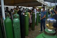 Finding reliable supplies of medical oxygen in Manaus was difficult for many
