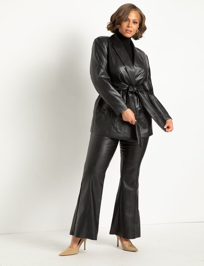 """<h2>Leather Jackets</h2><br><br><strong>Eloquii</strong> Leather Belted Blazer, $, available at <a href=""""https://go.skimresources.com/?id=30283X879131&url=https%3A%2F%2Fwww.eloquii.com%2Fleather-belted-blazer%2F1268200.html"""" rel=""""nofollow noopener"""" target=""""_blank"""" data-ylk=""""slk:Eloquii"""" class=""""link rapid-noclick-resp"""">Eloquii</a>"""