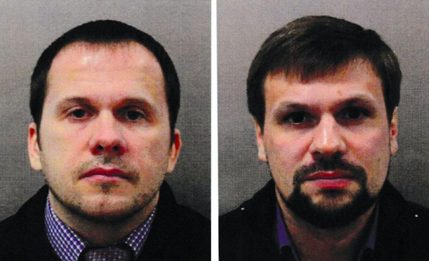 <em>Alexander Petrov (left) and Ruslan Boshirov were accused of carrying out the Salisbury spy poisoning (Getty)</em>