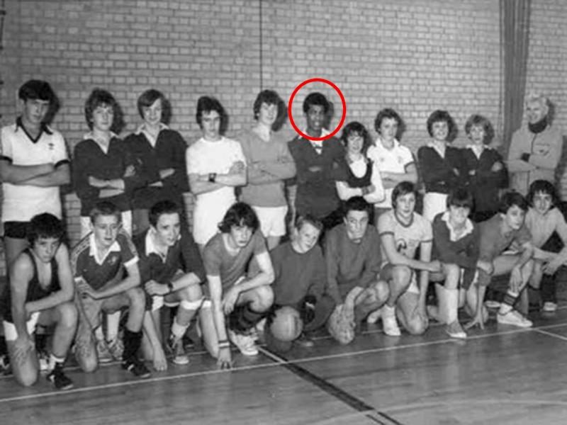 Khalid Masood during his school days, when he was known as Adrian Ajao (Huntley School)