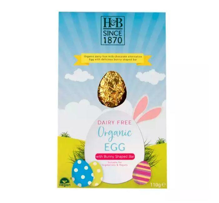"""<p>Holland & Barrett's vegan offering is an affordable treat that'll satisfy even the pickiest of eaters. Made from cocoa butter and rice powder, it even comes with a separate mini chocolate bar. </p><p>Milk chocolate style egg with bunny bar, £2.99, Holland & Barret</p><p><a class=""""link rapid-noclick-resp"""" href=""""https://go.redirectingat.com?id=127X1599956&url=https%3A%2F%2Fwww.hollandandbarrett.com%2Fshop%2Fproduct%2Fholland-barrett-milk-chocolate-style-egg-with-bunny-bar-60011062%3Fskuid%3D011062&sref=https%3A%2F%2Fwww.cosmopolitan.com%2Fuk%2Fworklife%2Fg15871251%2Fvegan-easter-eggs%2F"""" rel=""""nofollow noopener"""" target=""""_blank"""" data-ylk=""""slk:BUY NOW"""">BUY NOW</a></p>"""