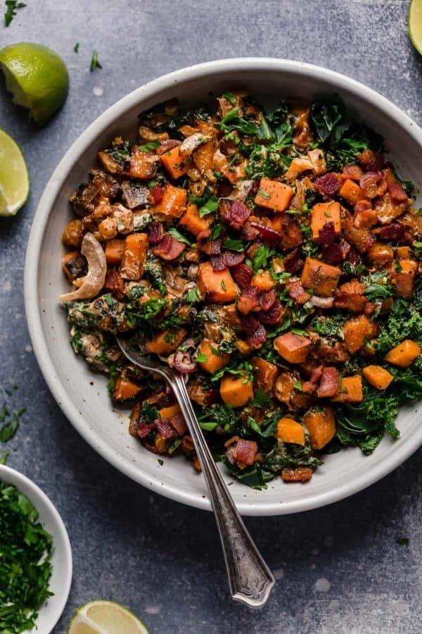 """<p>It's healthy, hearty, and the best side dish imaginable for all your favorite <a href=""""https://www.countryliving.com/food-drinks/g1921/easy-fall-recipes/"""" rel=""""nofollow noopener"""" target=""""_blank"""" data-ylk=""""slk:fall recipes"""" class=""""link rapid-noclick-resp"""">fall recipes</a>. </p><p><strong>Get the recipe at <a href=""""https://therealfoodrds.com/warm-chipotle-lime-sweet-potato-salad/"""" rel=""""nofollow noopener"""" target=""""_blank"""" data-ylk=""""slk:The Real Food Dietitians"""" class=""""link rapid-noclick-resp"""">The Real Food Dietitians</a>. </strong></p><p><strong><a class=""""link rapid-noclick-resp"""" href=""""https://www.amazon.com/Rachael-Ray-Hard-Anodized-Nonstick-Cranberry/dp/B00JYHMROW/?tag=syn-yahoo-20&ascsubtag=%5Bartid%7C10050.g.877%5Bsrc%7Cyahoo-us"""" rel=""""nofollow noopener"""" target=""""_blank"""" data-ylk=""""slk:SHOP LARGE SKILLETS"""">SHOP LARGE SKILLETS</a><br></strong></p>"""