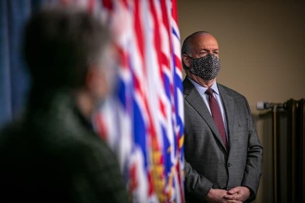 B.C. Premier John Horgan is pictured on March 18. The province announced Monday new travel restrictions are being drafted in B.C. to come into effect this Friday.
