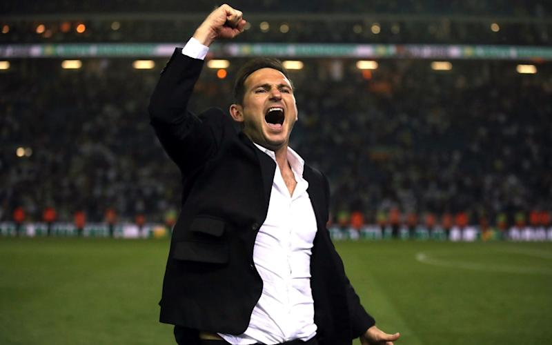 Frank Lampard leads Derby into a play-off semi-final on Monday with speculation lingering over his future - PA