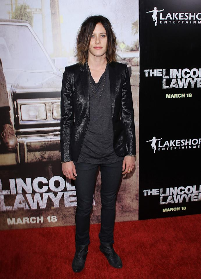 "<a href=""http://movies.yahoo.com/movie/contributor/1804504033"">Katherine Moennig</a> at the Los Angeles premiere of <a href=""http://movies.yahoo.com/movie/1810088161/info"">The Lincoln Lawyer</a> on March 10, 2011."