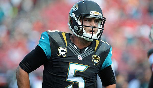"NFL: Trainings-Debakel: Jags ""besorgt"" wegen Bortles"