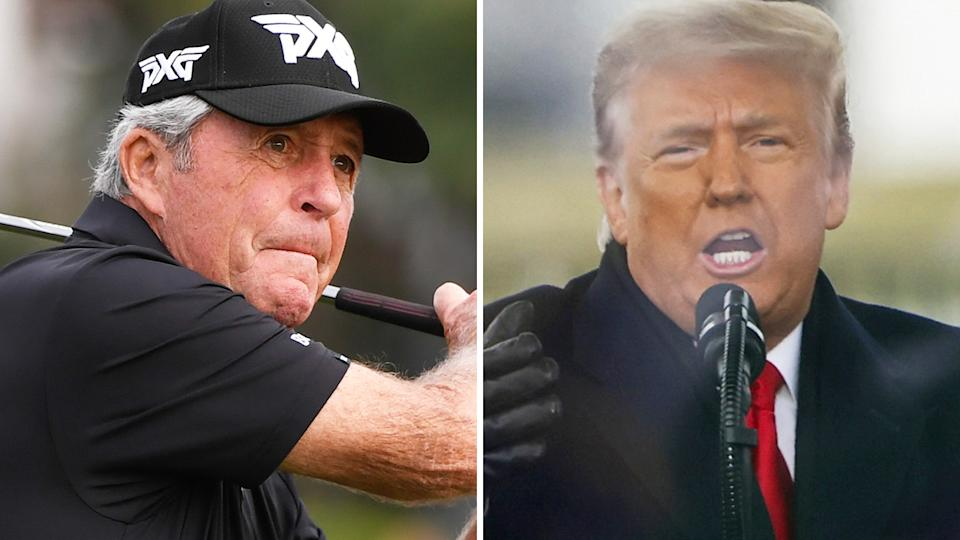 Golf great Gary Player has been urged by his son Marc to return the Presidential Medal of Freedom awarded to him recently. Pictures: Getty Images