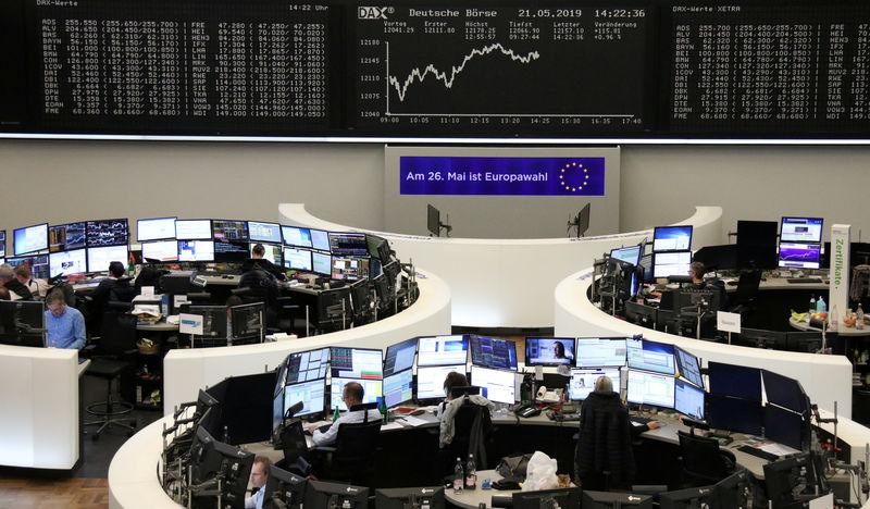The German share price index DAX graph is pictured at the stock exchange in Frankfurt, Germany, May 21, 2019. REUTERS/Staff