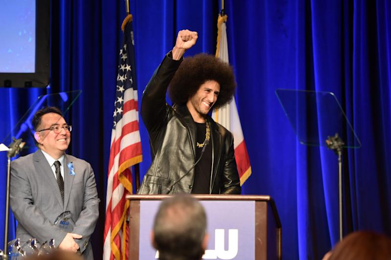 Colin Kaepernick Accepts ACLU Advocacy Award: 'We all Have an Obligation'