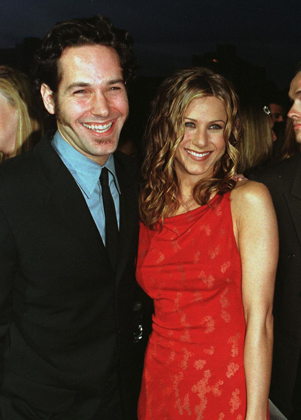 Actress Jennifer Aniston and Paul Rudd, stars of the new romantic comedy
