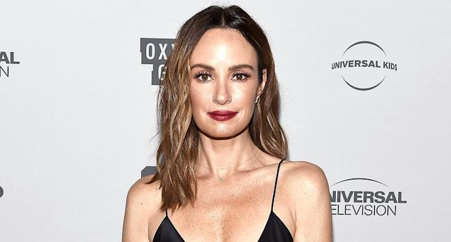 Entertainment reporter Catt Sadler at a press junket in L.A. on Nov. 13. (Photo: Amanda Edwards/WireImage)