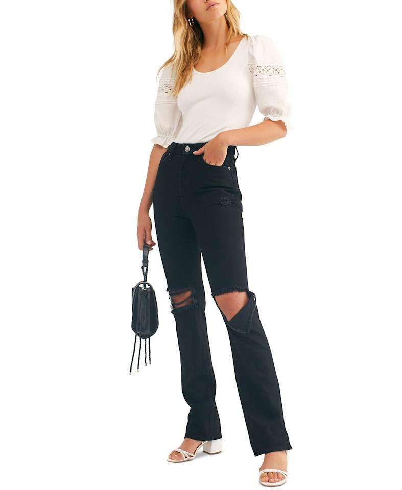 """<p>How cool are these <a href=""""https://www.popsugar.com/buy/Free-People-My-Own-Lane-Deststroyed-Jeans-489868?p_name=Free%20People%20My%20Own%20Lane%20Deststroyed%20Jeans&retailer=macys.com&pid=489868&price=128&evar1=fab%3Aus&evar9=46607110&evar98=https%3A%2F%2Fwww.popsugar.com%2Fphoto-gallery%2F46607110%2Fimage%2F46607119%2FFree-People-My-Own-Lane-Deststroyed-Jeans&list1=shopping%2Cfall%20fashion%2Cdenim%2Cjeans%2Cfall%2Cmacys&prop13=api&pdata=1"""" rel=""""nofollow"""" data-shoppable-link=""""1"""" target=""""_blank"""" class=""""ga-track"""" data-ga-category=""""Related"""" data-ga-label=""""https://www.macys.com/shop/product/free-people-my-own-lane-deststroyed-jeans?ID=9510620&amp;CategoryID=3111#fn=sp%3D1%26spc%3D1966%26searchPass%3DmatchNone%26slotId%3D26"""" data-ga-action=""""In-Line Links"""">Free People My Own Lane Deststroyed Jeans</a> ($128)?</p>"""