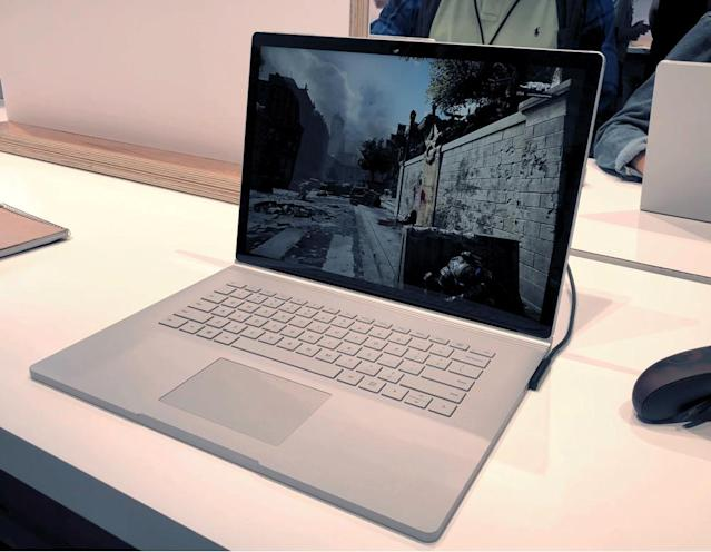 The Surface Book 2 can run games like 'Gears of War 4.'