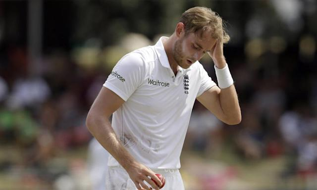 "<span class=""element-image__caption"">Stuart Broad played a full part in Nottinghamshire's preparations for the four-day season but will now not play again until 21 April.</span> <span class=""element-image__credit"">Photograph: Themba Hadebe/AP</span>"